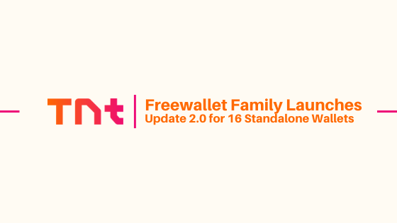 Freewallet Family Launches Update 2.0 for 16 Standalone Wallets